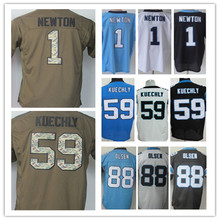 Lower Price men's jersey,Elite 1 Newton 13 Benjamin 88 Olsen 59 Kuechly Jerseys,Size M-XXXL,Best Quality,Authentic Jersey(China (Mainland))