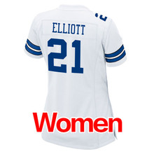 Women's #4 Dak Prescott #21 Ezekiel Elliott #50 Sean Lee 88 Dez Bryant 82 Jason Witten #9 Romo Light Game Stitched Logos(China (Mainland))