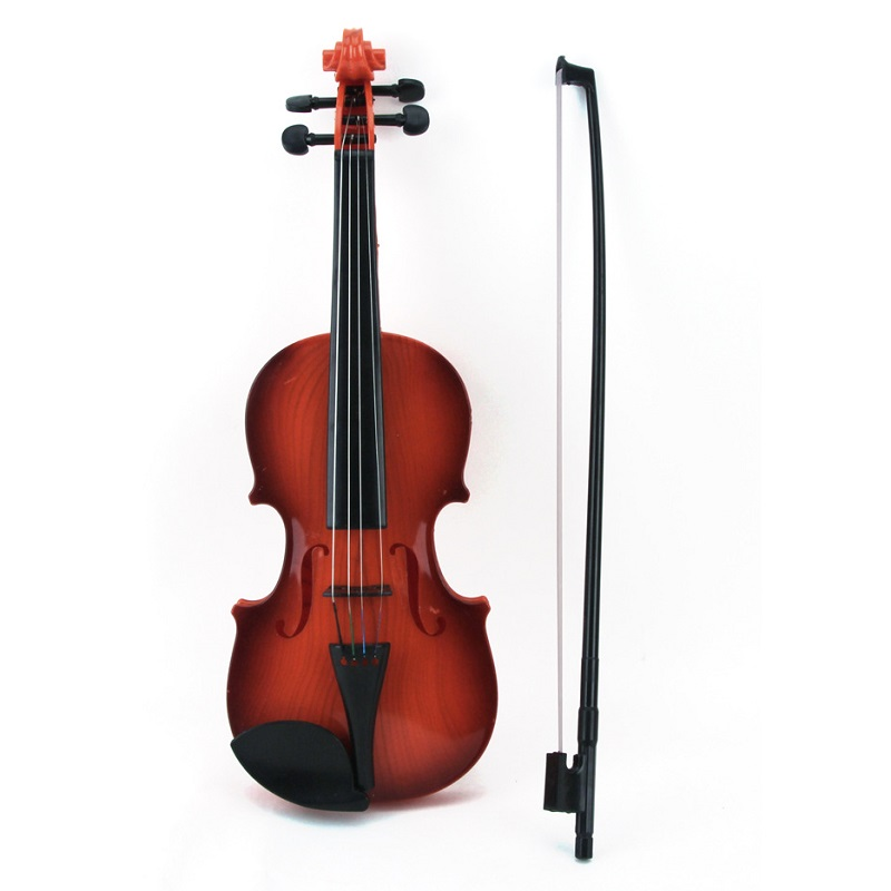 Simulation Child Violin Toy Kid Musical Instrument Educational Toys adjust 4 String Wire Bow Violin Musical Toy(China (Mainland))