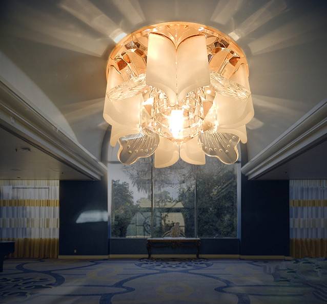 3W modern crystal lamp Led entrance lights AC85-265V led balcony ceiling light lamps for home decor ceiling luminaire(China (Mainland))