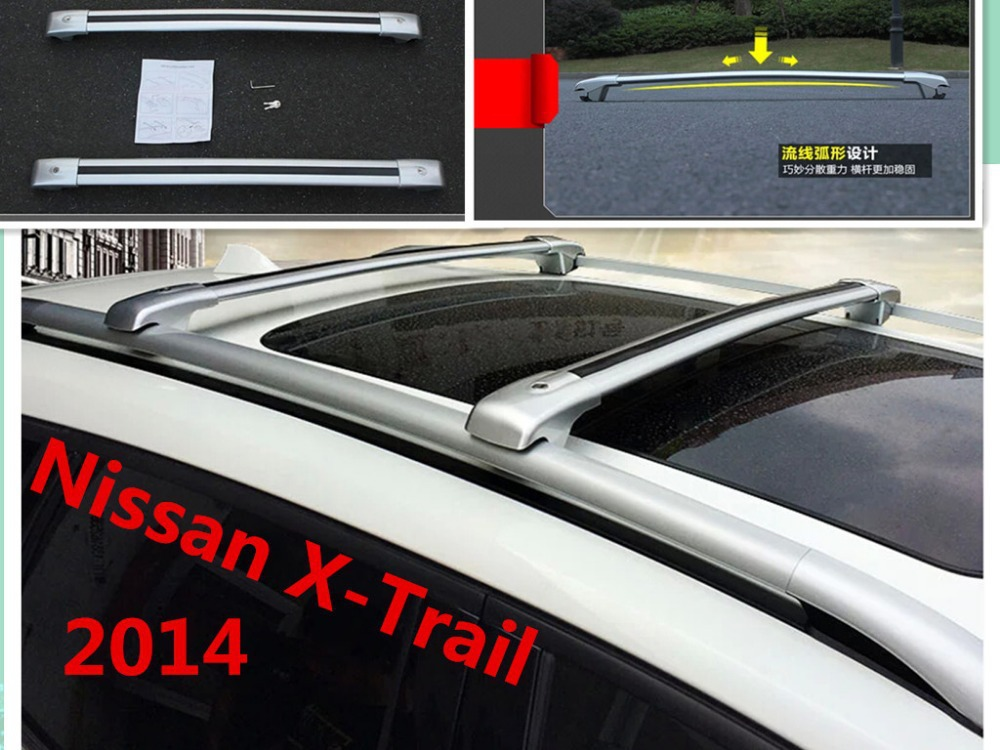 Aluminum Car Roof Rack/Luggage rack Roof Racks Modification Accessories For 09-14 Nissan X-Trail/09-14 Nissan Qashqai.shipping(China (Mainland))