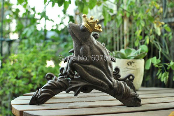 Iron Wall Mounted Hose Holder, Frog Hose Hanger Rustic Yard Garden