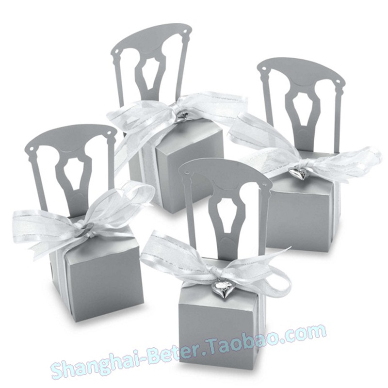 2016 5 sliver Chair wedding box ,party shower candy favor box(NO letter box),party paper - Health & Life store