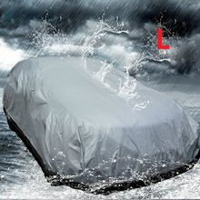 Car Full Cover Single Layer PEVA Waterproof Anti-UV Dust Resistant Vehicle Protection Covering Outdoor Indoor Universal Sun Rain(China (Mainland))