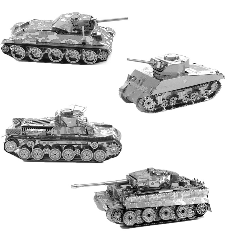3D puzzle metal Military Tank series model Stainless Steel jigsaw toy free shipping(China (Mainland))