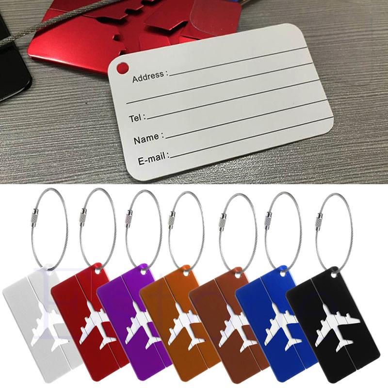New Aluminium Travel Luggage Baggage Tag Suitcase Identity Address Name Labels(China (Mainland))