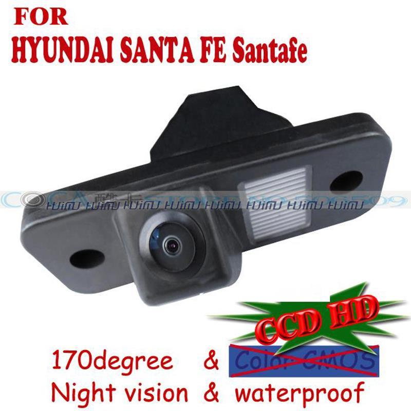 wireless wire Car Rear View Backup Camera parking camera for HYUNDAI SANTA FE Santafe Sony CCD parking assistance night vision(China (Mainland))
