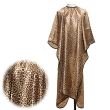 Pro 1Pcs Leopard Adult Salon Hair Barber Cape Wrap Hairdressing Cut Hairstylist Cloth Gown Sleeve Styling Tools Free Shipping(China (Mainland))