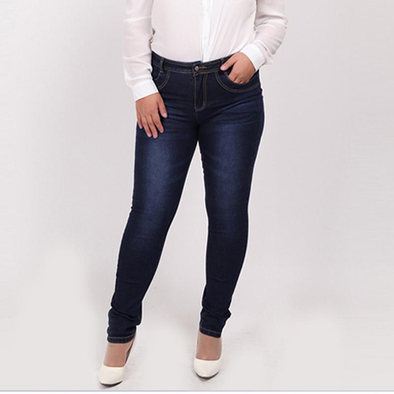Гаджет  2015 Winter autumn fashion brand plus size jeans blue color casual brand denim pants woman pencil jean trousers  L-5XL big size None Одежда и аксессуары