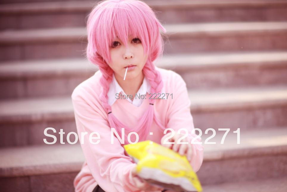 FREE SHIPPING Anime Inu x Boku SS Roromiya Karuta Pink Double BraidedCosplay Party Hair Full Braid  Wig Heat Resistant<br><br>Aliexpress