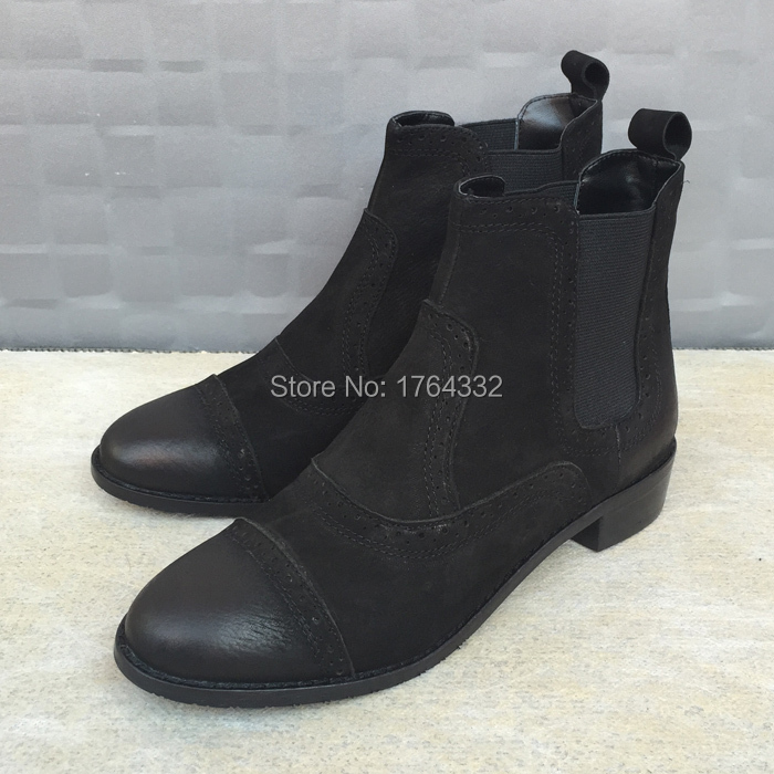 women boots 2016 fashion autumn Uneasy Free vintage ankle boots real leather and suede shoes woman suede black boots shoes women<br><br>Aliexpress
