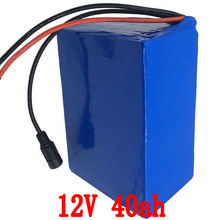 Brand battery 40ah lithium 12v 40ah ion 12v battery pack rechargeable 40ah for ups laptop power bank 12v cell ebike + 3A charger