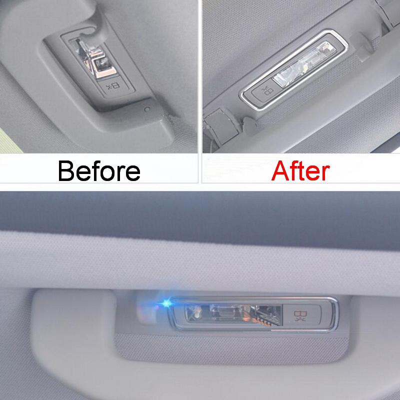 2 PCS Car New DIY Aluminum Backseat Roof Handle Light Box Cover Case for Benz 2016 C Grade GLC200/260/300 Parts Accessories(China (Mainland))