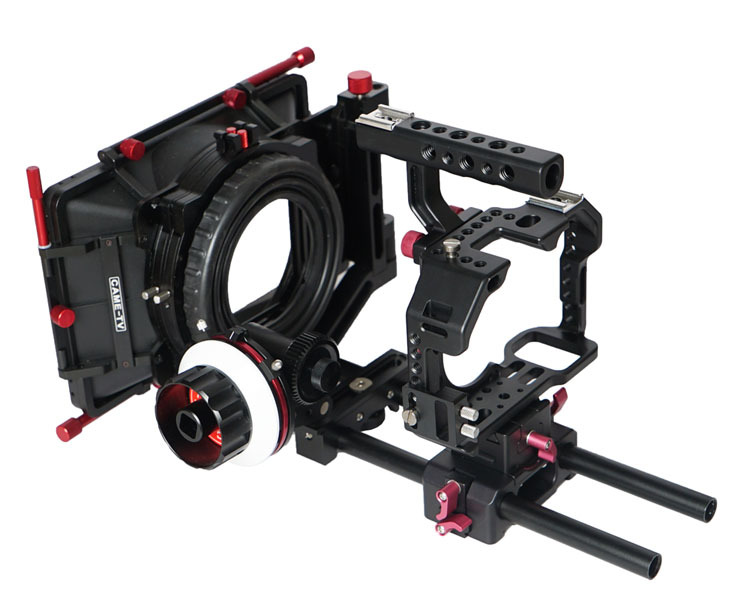 CAME-TV S ony A7S Rigs W/ Mattebox Follow Focus Dslr Cage Camere Rigs