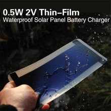 0.5W 2V Thin-Film Solar Panel Cell Battery Charger Solar Display light Waterproof Mni Solar Power Panel outdoor tool(China (Mainland))