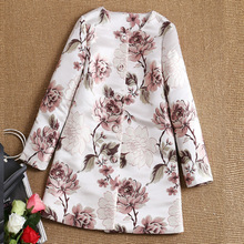 2017 New Europe Style Winter Spring Classical Vintage Luxury Gorgeous Embroidery Women Coat Ladies Overcoat jacket tops(China (Mainland))
