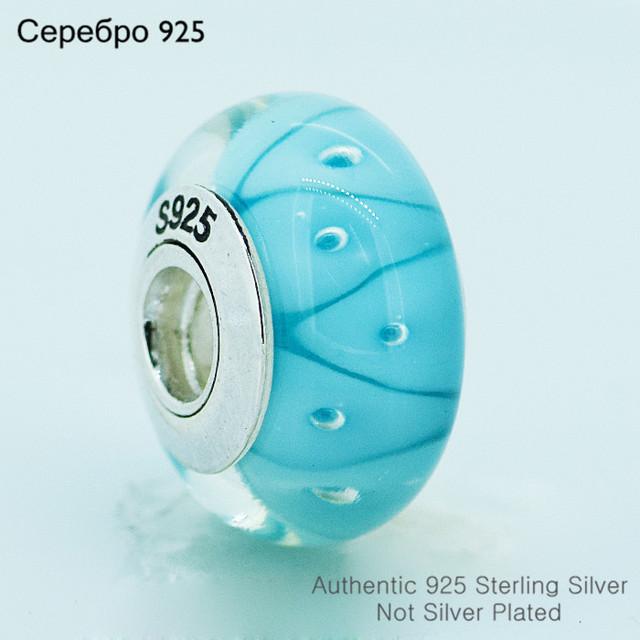 Муранского стекла бусины 925-Sterling-Silver женщин DIY ювелирных изделий подходит пандоры прелести браслет A606B