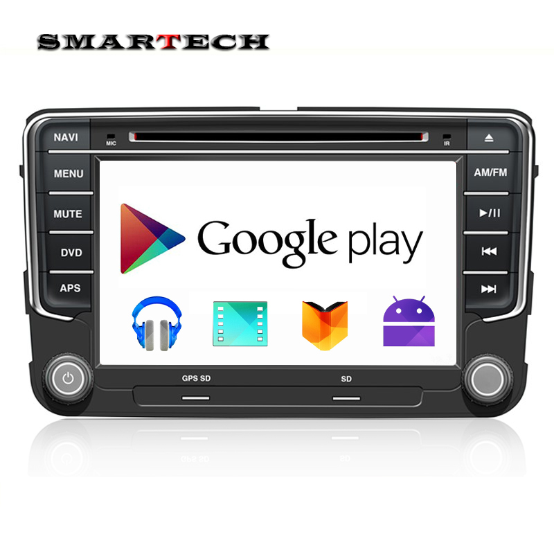 Free Shipping New Quad Core VW Android 4 4 Car DVD GPS VW GOLF 5 6