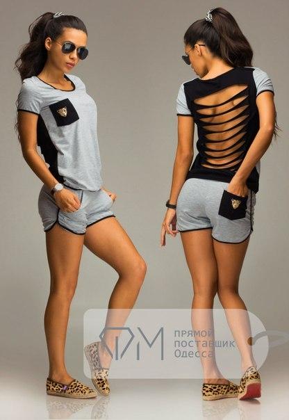 Summer T shirt Women 2016 Sexy Hollow Out Tiger Head Pockets T-shirt Casual 2 Piece Set Tee+ShortsОдежда и ак�е��уары<br><br><br>Aliexpress