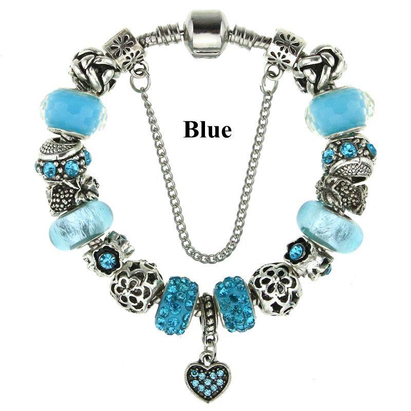 New Fashion DIY Charm Bracelet Fit pandora Bracelets for Women Chain Beads Charm Bracelet Jewelry Allergy free Gfit(China (Mainland))