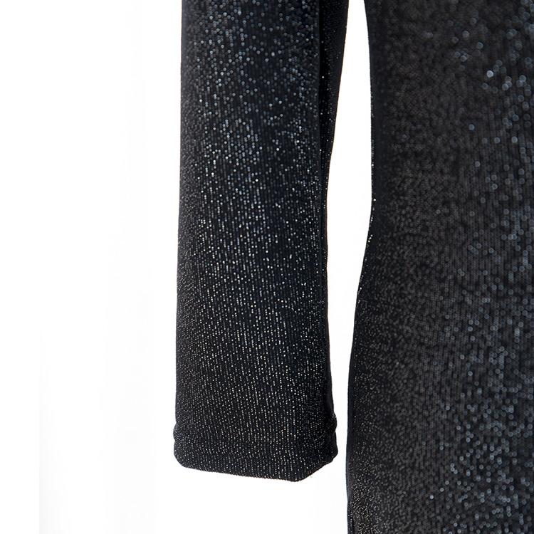 Платье кружево с v-образным вырезом Mini, приталенный женщины свободного покроя ресница 3/4 рукав Клубная одежда вечернее платье Vestidos Femininos черный