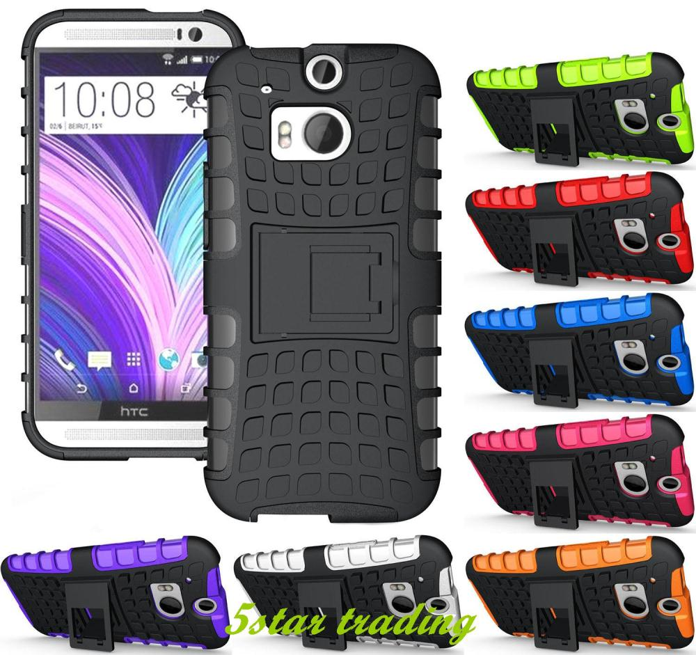 New Grenade Grip Rugged TPU Skin Hard Case Cover Stand For HTC One M8(China (Mainland))
