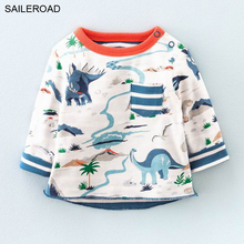 Buy 2017 New 18M 6 years dinosaur shirts children kids boys girls long sleeve t shirts autumn spring baby clothes SAILERAOD for $6.99 in AliExpress store
