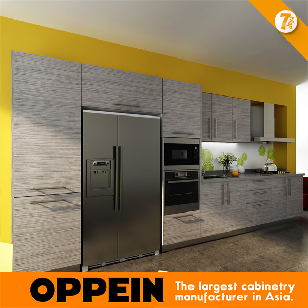 7 Days Delivery Blum Hardware Wood Grain Laminate kitchen cabinet from factory guangzhou OP14-K007(China (Mainland))