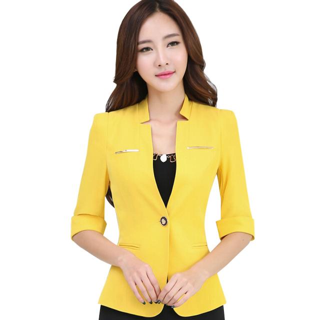 Профессиональный женская половина рукав пиджак мода пр офис пиджак Большой размер ...