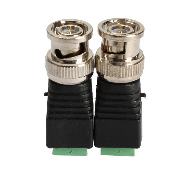 Video Surveillance BNC Connector 2PCS Mini Coax CAT5 To Camera CCTV BNC Video Balun Connector Adapter FC(China (Mainland))