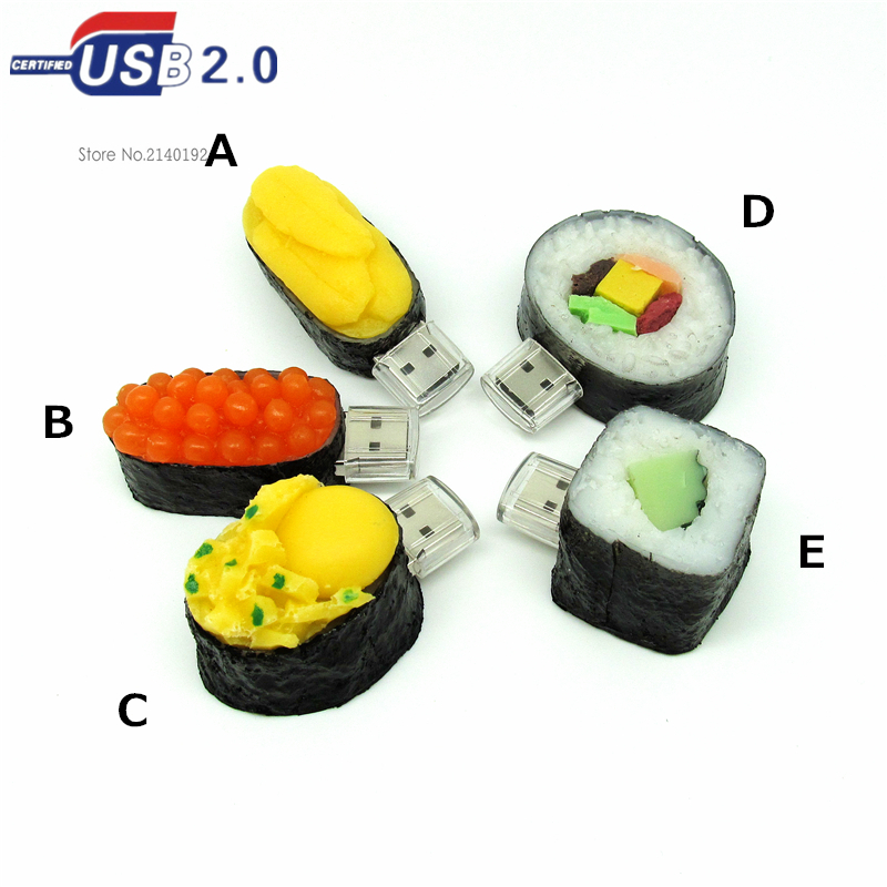 new arrival japanese food model usb flash drive 4G/8G/16G/32G all kinds of sushi Pen Drive Disk Flash Memory Stick usb creativo(China (Mainland))