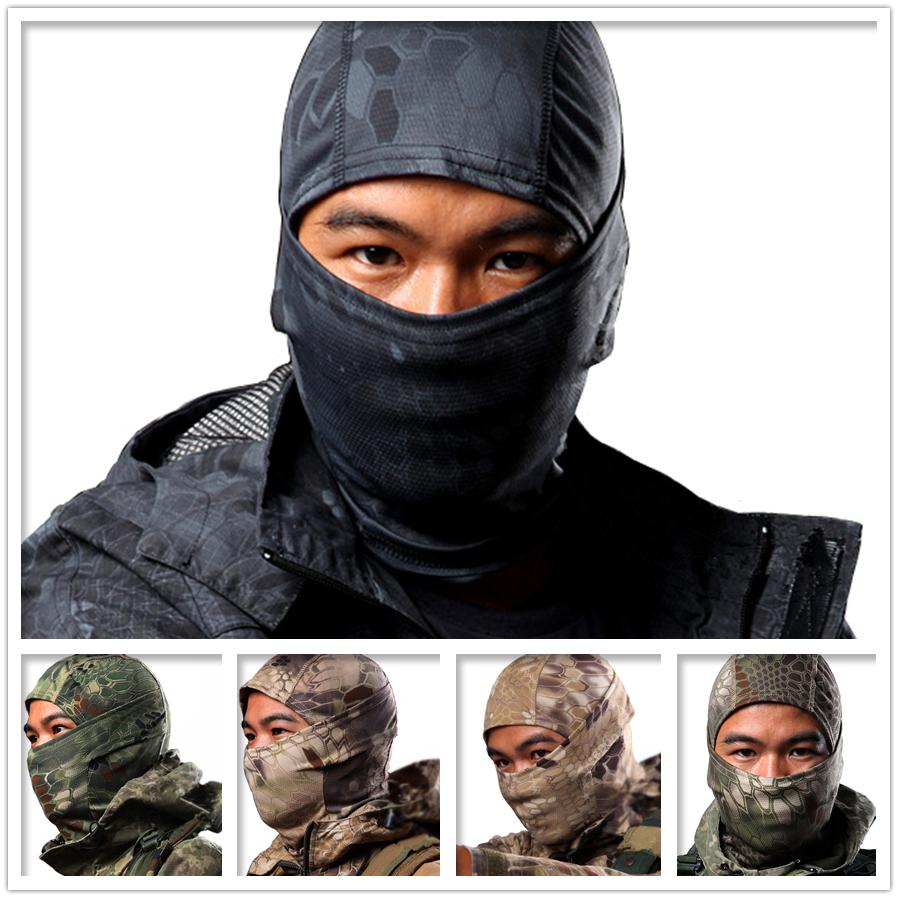 Breathable Chiefs Rattlesnake Camo Tactical Mask Airsoft Paintball Full Face Mask Motorcycle Cycling Hunting CS Balaclava Mask(China (Mainland))
