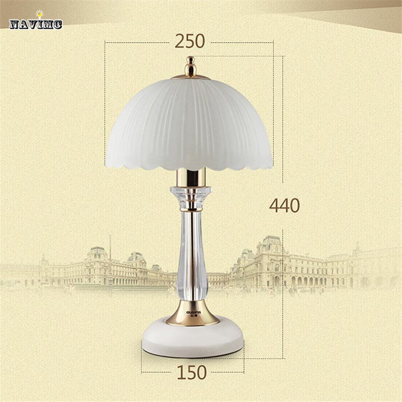 Modern Table Lamp Pearl White Desk Light Night Light for Bedroom Living Room Bedside Lamp Baby Lighting Fixture Glass Lampshade(China (Mainland))