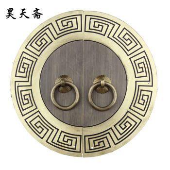 2016 Hot-sale 18cm Chinese antique furniture copper fittings Cabinet Handle Door handle round doorplate Ruyi grain HTB-208(China (Mainland))