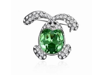 New arrival bunny design crystal jewelry Austrian crystal brooches for girls