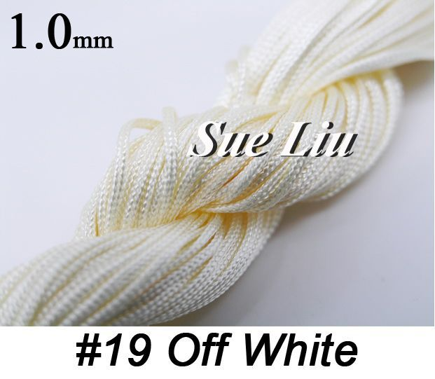 1mm 250m/270yds Off White Chinese Knot Beading Polyester (similar but not nylon) Cord NCP10, 10pcsx27yds(China (Mainland))
