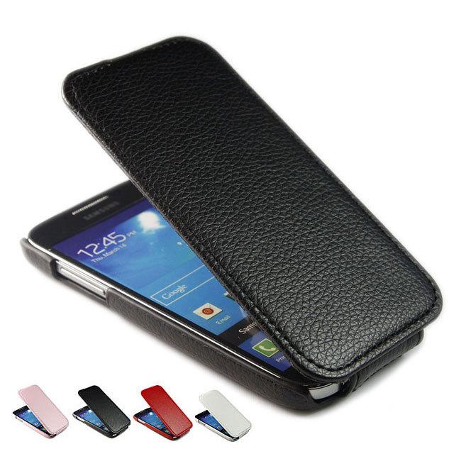 Litchi Leather Flip Case Cover Skin For Samsung Galaxy S4 Mini i9190 i9192 i9195 + Colorful Wholesale(China (Mainland))