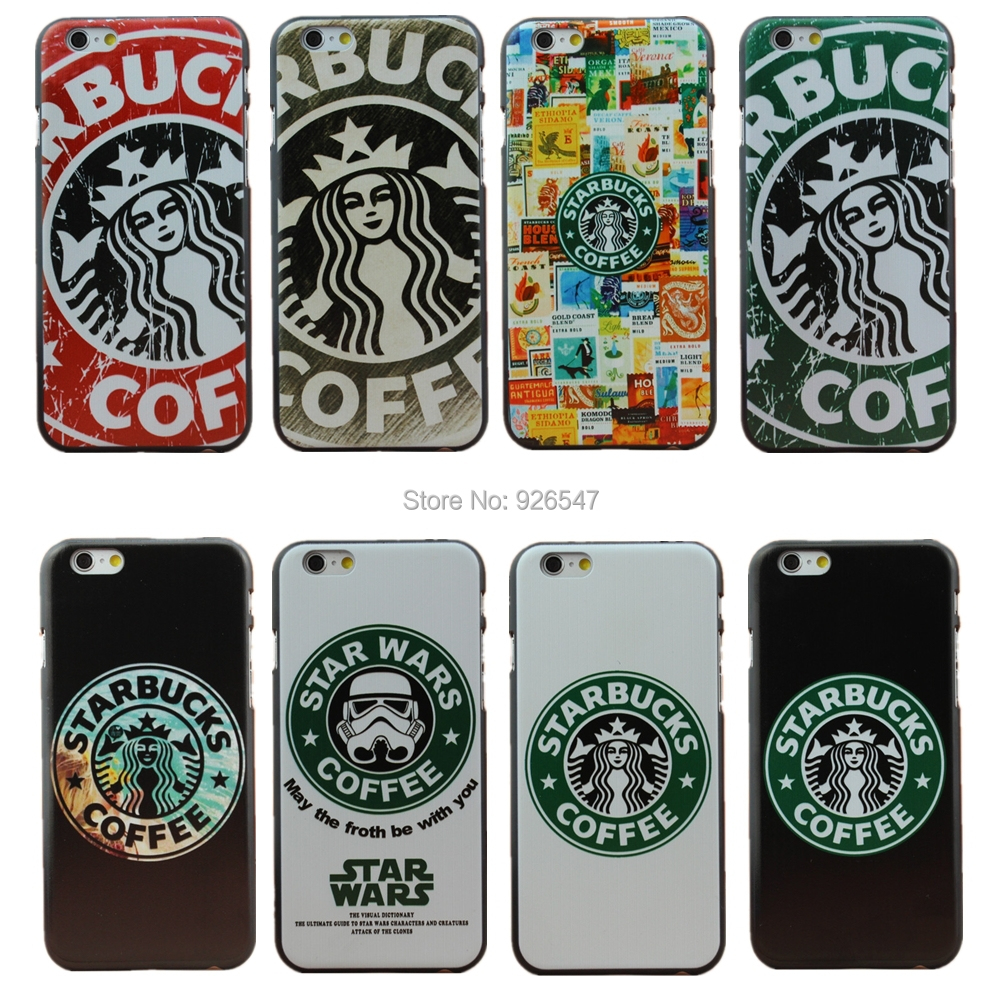 2015 New arrive Fashion Starbuck Star Wars Coffee Design Phone Case Cover for Apple iPhone 6 6S 4.7 inch 1Piece Free Shipping(China (Mainland))