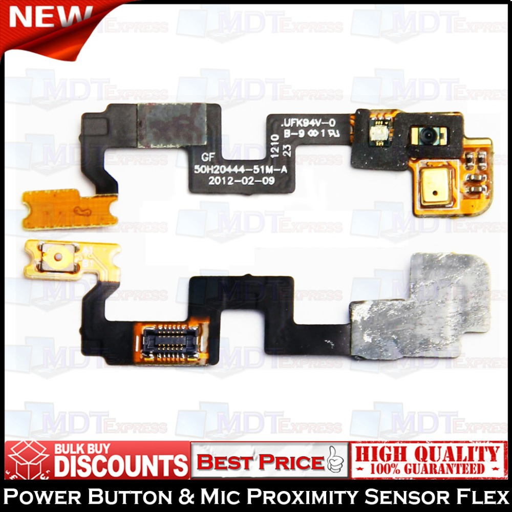 New! 100% Original Power On Off Switch Button Microphone Connector Sensor Flex Ribbon Cable FPX for HTC One X G23 S720E