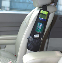 New & Useful Car Interior Seat Covers Hanging Bags with Storage Pockets Seat Bag of Chair Side, with 1PCS Anti-slip Mat as Gift