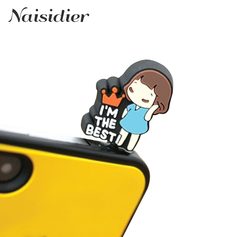 Universale lovely headset Anti dust plug for cell phone cute girl ear jack earphone cap for iPhone 5 6 7 for Samsung for HTC(China (Mainland))