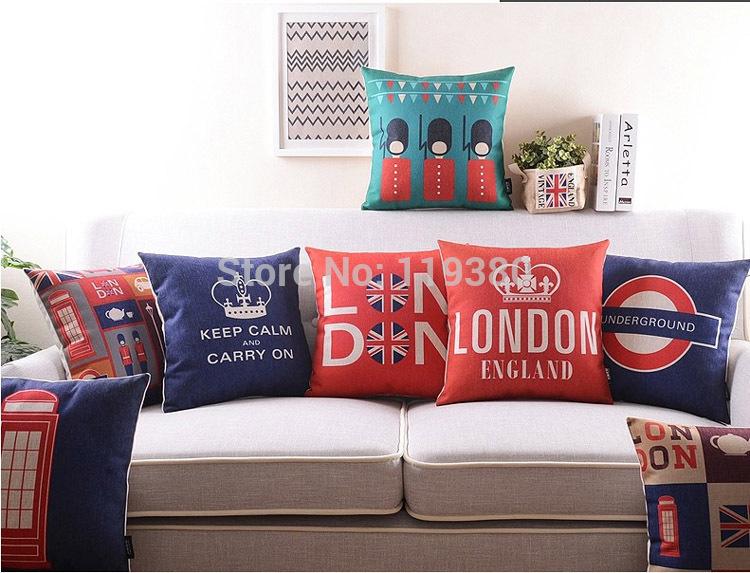 com buy 18 retro british london cotton linen cushion cover sofa