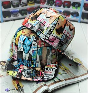 cool magazine hip hop cap leather caps flat hats for women men(China (Mainland))