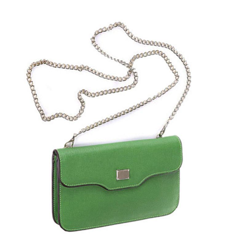 Фотография 2016 Brand Solid Women Handbags Fashion Genuine Leather Cross Lines Cowhide Chain Lady Bag Handbag Flap Shoulder Messenger Bags