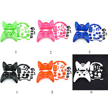 6colors Replacement Plastic Polishing Full Housing Case Cover Shell & Button Accesories kits for Xbox 360 Controller