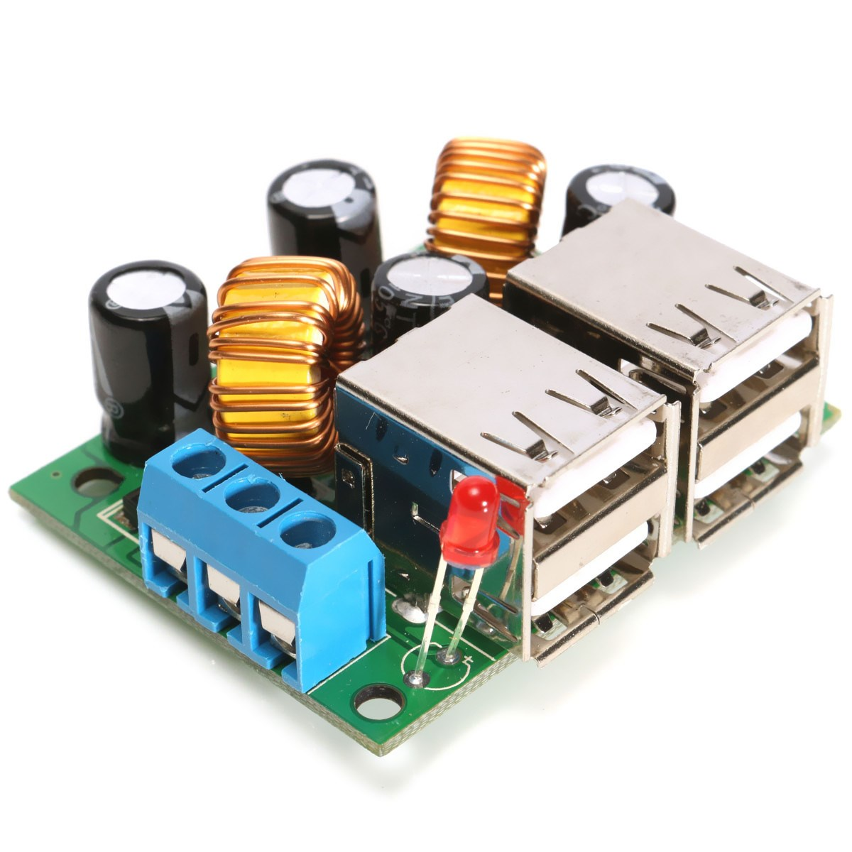 Hot Sale High Quality USB Step-down Power Supply Module New DC 12V 24V 40V to 5V 5A Copper - US(China (Mainland))