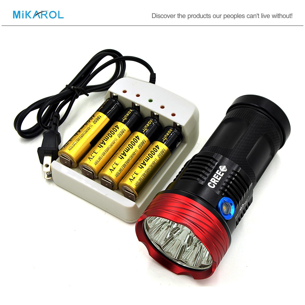 14000 Lumens CREE Flashlight XML T6 Light LED Flashlight Waterproof Tactical Torch Lamp 18650 Battery(China (Mainland))