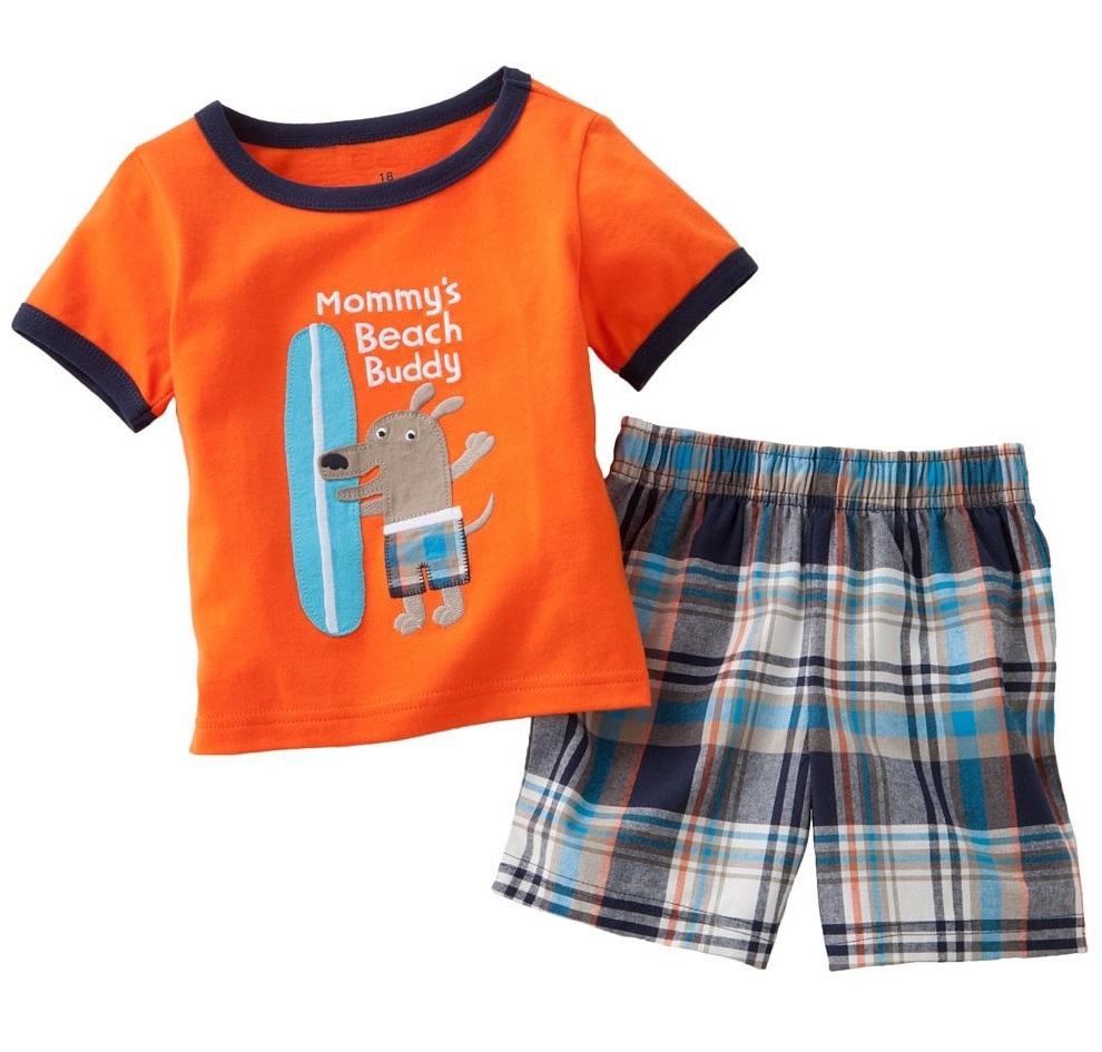 HOT SALE Summer Boys clothes Beach Children's suits sets ...