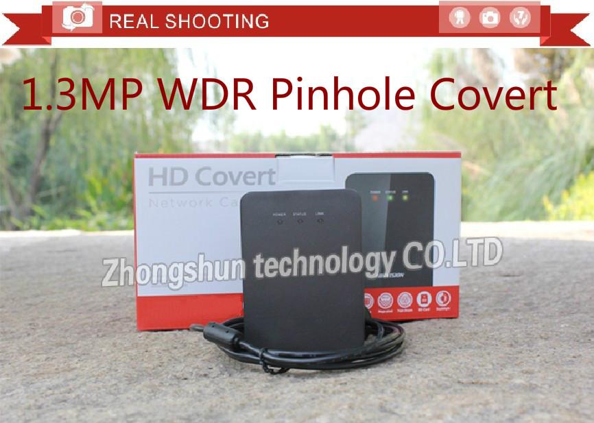 Original English DS-2CD6412FWD-30 Tube lens Covert Network IP Camera WDR 1.3MP Seperated Pinhole Camera ROI codec Audio/Alarm IO(China (Mainland))