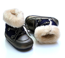 2016 NEW Winter Waterproof Baby Boots Outdoor Rubber Bottom Fleece Babies Toddler Shoes Unisex Boots8986B(China (Mainland))